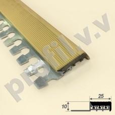 Алюминиевый профиль противоскользящий V.V.A-APSRG10x25 гнущийся
