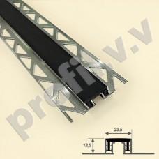 Алюминиевый профиль V.V.A-DSH23,5x13,5 с резиновой вставкой