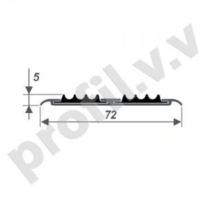 Алюминиевый порог (стык)  V.V.A-NPP72R