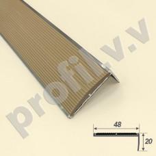 Алюминиевый профиль угловой V.V.A-UN48x20R