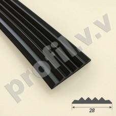 Резиновая вставка V.V.A-VR28, для противоскользящих профилей