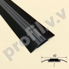 Порог алюминиевый - стык с резиновой вставкой V.V.R-NPP42R