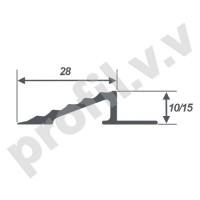 Алюминиевый профиль V.V.R-OBK10 с перепадом