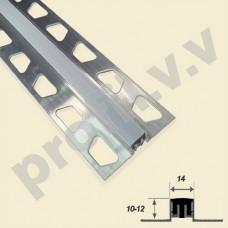 Алюминиевый профиль V.V.A-DSH10-12x14 с резиновой вставкой
