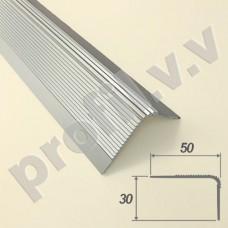 Порог алюминиевый V.V.R-UN50x30 угловой для ступеней
