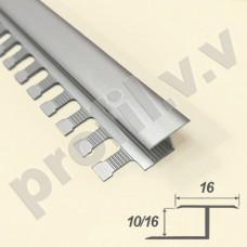 Алюминиевый профиль V.V.A-DG10/16  для плитки и керамогранита