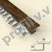 Алюминиевый профиль T-образный V.V.A-DGL10  ламинированный ECO