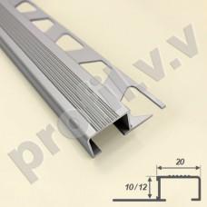 Алюминиевый профиль  V.V.A-PPS10х20 /12x20 для ступеней