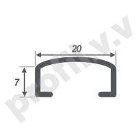 Алюминиевый профиль для плитки (бордюр) V.V.A-BD20/30