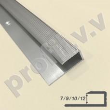 Алюминиевый отделочный гнущийся профиль V.V.A-L7/9/10/12 окантовочный ECO