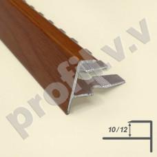 Алюминиевый F-образный профиль V.V.A-FGL10/12 ламинированный ECO