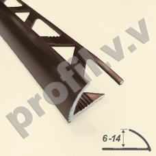 Алюминиевый профиль для плитки V.V.A-N6/8/10/12/14 6-14мм