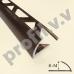 Алюминиевый профиль для окантовки керамической плитки V.V.A-N6/8/10/12/14 ECO