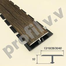 Алюминиевый профиль ламинированный V.V.A-TGL13/18/26/30/40 Т-образный ECO