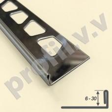 Профиль из нержавеющей стали V.V.A-N-A от 6 до 30 мм Г-образный