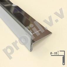 Профиль из нержавеющей стали V.V.A-N-F8/10/12/15 F-образный