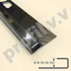 Профиль из нержавеющей стали П-образный V.V.A-N-L6/8/10/12/15 ECO
