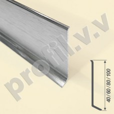 Плинтус из нержавеющей стали V.V.A-N-PL40/60/80/100 напольный